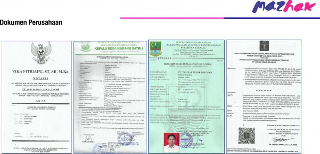 Dokumen Perusahaan Mazhak 1