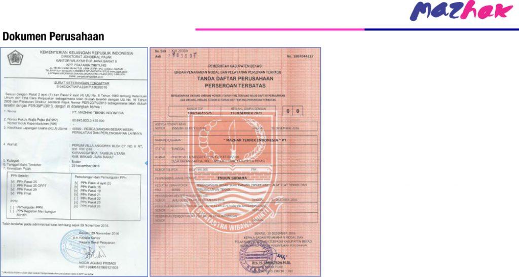 Dokumen Perusahaan Mazhak 2